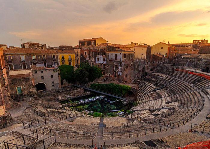 Teatro grecorromano de Catania